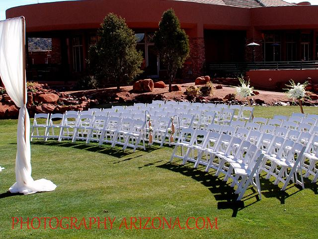 Ceremony on Golf Course