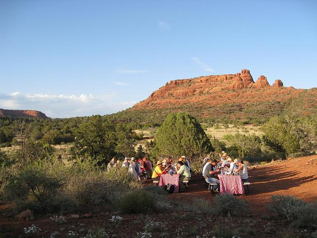 Red Gingham Picnic Pink Jeep Tours