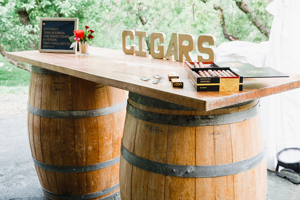 Cigar Bar - Wine Barrel Bar