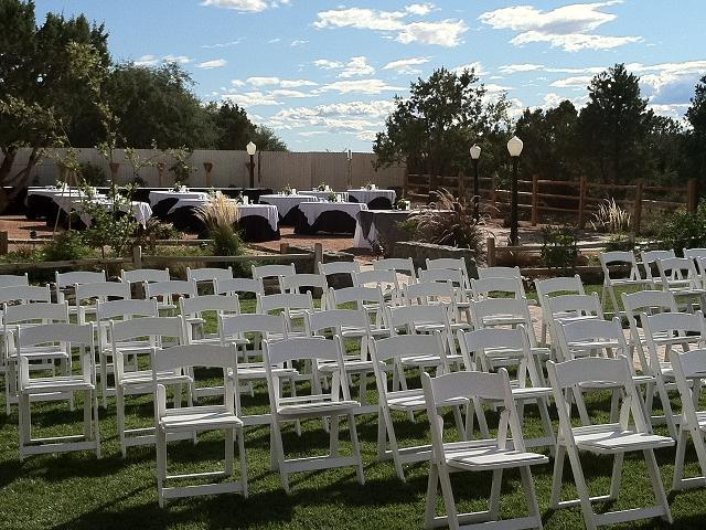 View of Ceremony and Reception Set-up