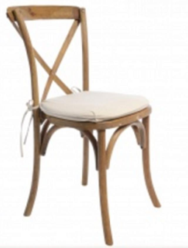 Where to find CHAIR, CROSSBACK RUSTIC WOOD in Sedona
