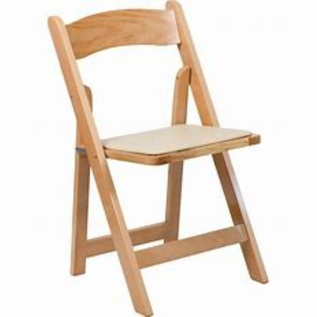 Where to rent CHAIR, NATURAL WOOD PADDED in Cottonwood AZ